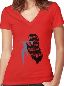 Not Made of Sugar Women's Fitted V-Neck T-Shirt