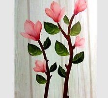 εїз✿♥Magnolia Stems on the Wood Grain Wallpaper iPhone & iPod Cases♥✿εїз by Fantabulous