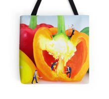 Mining in colorful peppers Tote Bag