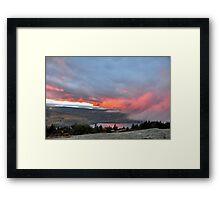 Sunset Fog on Cadillac Framed Print