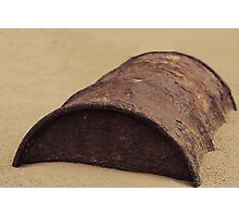 Rusted Barrel Photographic Print