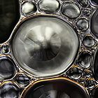 Onyx & Silver Bubble Abstract by Sharon Johnstone