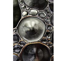 Onyx & Silver Bubble Abstract Photographic Print