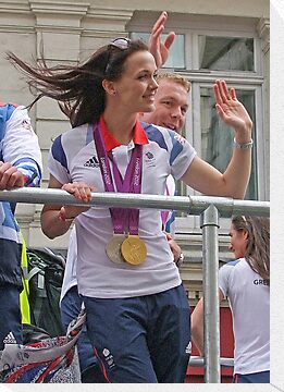 Victoria Pendleton And Sir Chris Hoy London 2012 by Colin J Williams Photography