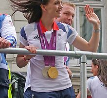 Victoria Pendleton And Sir Chris Hoy London 2012 by Colin  Williams Photography