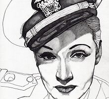 Marlene Dietrich by Paul  Nelson-Esch