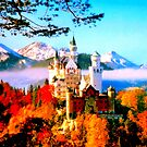 Neuschwanstein castle in autumn by ©The Creative Minds