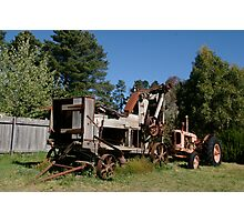 The new tractor Photographic Print