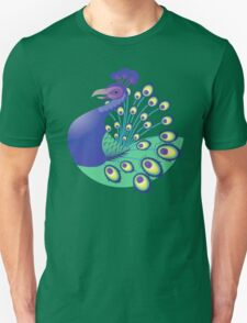 A splendid green and blue Peacock Unisex T-Shirt