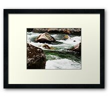 Water Running Through  Framed Print