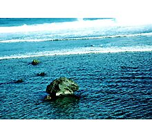Rock and waves Photographic Print