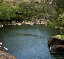 Little Millstream Falls Natural Rock Pool by Vanessa Barklay