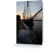 Falie at Sunset Greeting Card