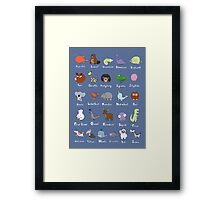 The Animal Alphabet Framed Print