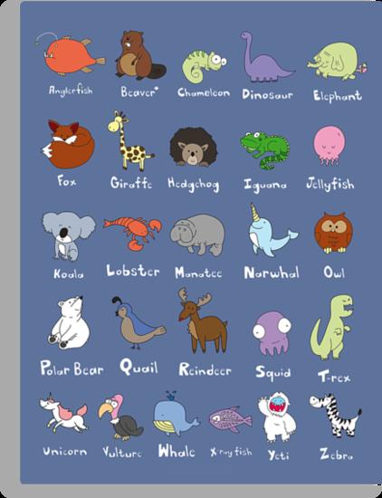 The Animal Alphabet by gillianjaplit
