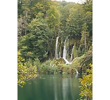 Waterfall on Plitvice Lakes  Photographic Print