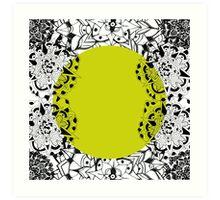 Mandala yellow Art Print