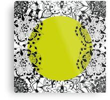 Mandala yellow Metal Print