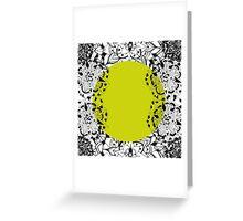 Mandala yellow Greeting Card