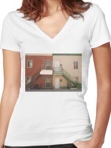 a dream place Women's Fitted V-Neck T-Shirt