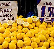 Lemons At A Street Market by Kuzeytac