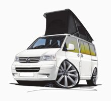 VW T5 California Camper Van White (10-Spoke Wheels) by Richard Yeomans