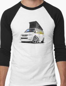 VW T5 California Camper Van White (10-Spoke Wheels) Men's Baseball ¾ T-Shirt