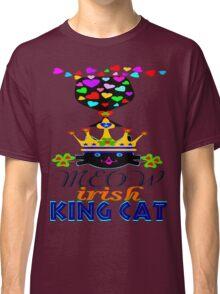 ㋡♥♫Irish Shamrock Crowned King Cat Fantabulous Clothing & Stickers♪♥㋡ Classic T-Shirt