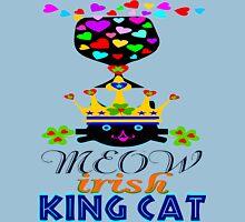 ㋡♥♫Irish Shamrock Crowned King Cat Fantabulous Clothing & Stickers♪♥㋡ Womens Fitted T-Shirt