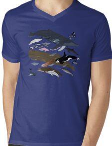 I Am Thankful For Cetaceans Mens V-Neck T-Shirt