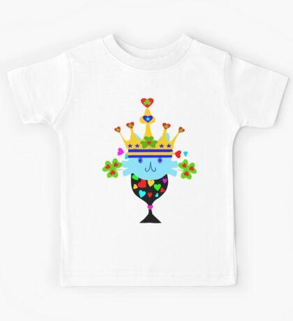 ㋡♥♫Irish Shamrock Crowned Cat Fantabulous Clothing & Stickers♪♥㋡ Kids Tee