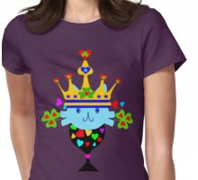 ㋡♥♫Irish Shamrock Crowned Cat Fantabulous Clothing & Stickers♪♥㋡ Womens Fitted T-Shirt