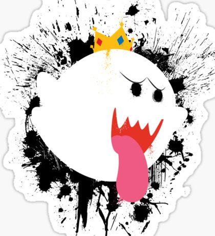 King Boo Splattery Design Sticker