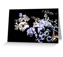 Contemporary Floral Medley Greeting Card