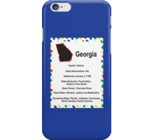 Georgia Information Educational iPhone Case/Skin