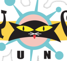 """Bowling """"Alley Cats Lounge"""" Retro Sticker"""