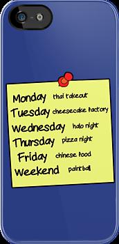 Sheldons Schedule  by stevebluey