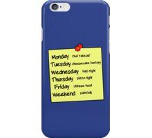 Sheldons Schedule  iPhone Case/Skin
