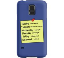 Sheldons Schedule  Samsung Galaxy Case/Skin