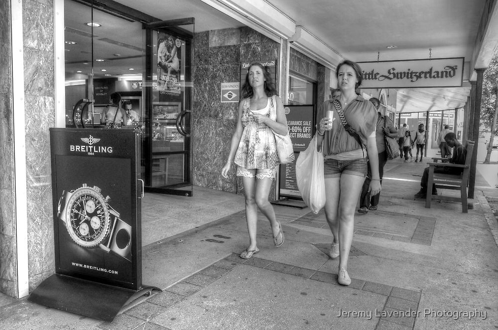 Tourists Shopping Downtown in Nassau, The Bahamas by Jeremy Lavender Photography