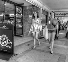 Tourists Shopping Downtown in Nassau, The Bahamas by 242Digital