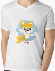 Tails - Sonic Games Mens V-Neck T-Shirt