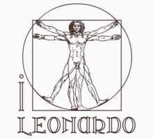 I LOVE LEONARDO DA VINCI T-shirt by ethnographics