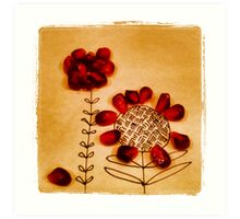 pomegranate flower Art Print