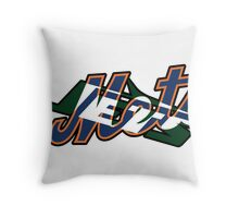 New York Sports Teams 2 -Mets & Jets Throw Pillow