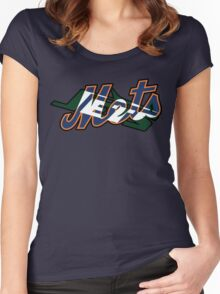 New York Sports Teams 2 -Mets & Jets Women's Fitted Scoop T-Shirt