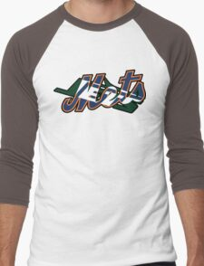 New York Sports Teams 2 -Mets & Jets Men's Baseball ¾ T-Shirt