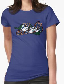 New York Sports Teams 2 -Mets & Jets Womens Fitted T-Shirt