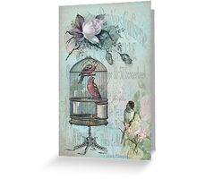 Birdcage Blossom Greeting Card