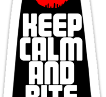 Keep Calm and Bite Your Lip Sticker